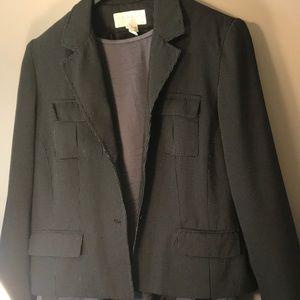 Black waste jacket size 12 with tiny white dots